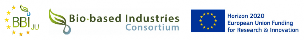 BBI, Bio-based Industries Consortium, and H2020 logos related to the Up4Health innovation project